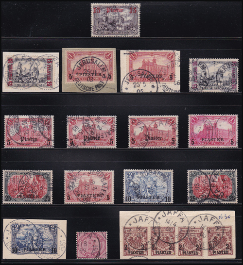 Lot 5 - holyland forerunners german post offices -  Romano House of Stamp sales ltd Auction #41