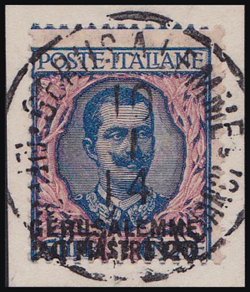 Lot 10 - holyland forerunners italian post offices -  Romano House of Stamp sales ltd Auction #41