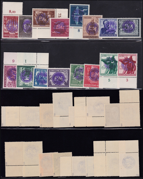 Lot 366 - world wide philately Germany 1938 - 1945, Local 1939-1945 -  Romano House of Stamp sales ltd Auction #41