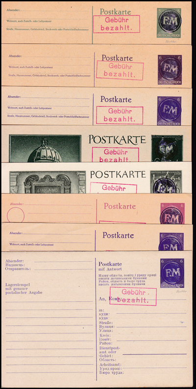 Lot 365 - world wide philately Germany 1938 - 1945, Local 1939-1945 -  Romano House of Stamp sales ltd Auction #41