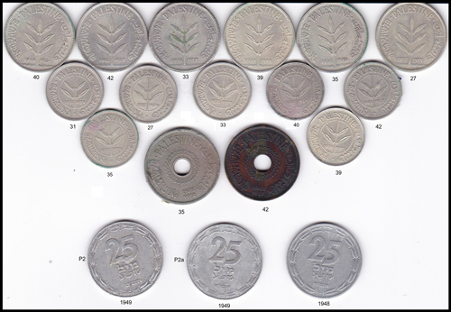 Lot 559 - Coins & Medals british mandate in palestine coins -  Romano House of Stamp sales ltd Auction #41