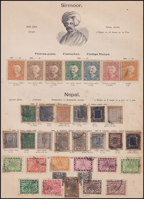 Lot 435 - world wide philately British Empire Commonwealth, Nepal -  Romano House of Stamp sales ltd Auction #41