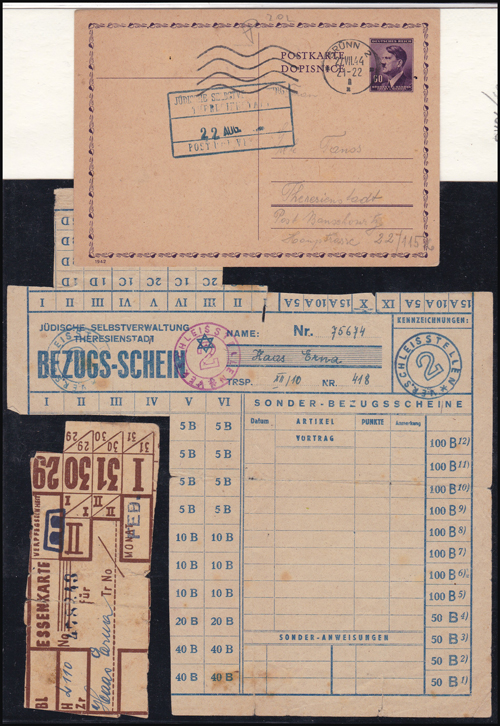 Lot 181 - Holocaust & Anti Semitism concentration camp post -  Romano House of Stamp sales ltd Auction #41