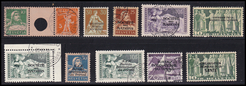 Lot 485 - world wide philately Switzerland -  Romano House of Stamp sales ltd Auction #41