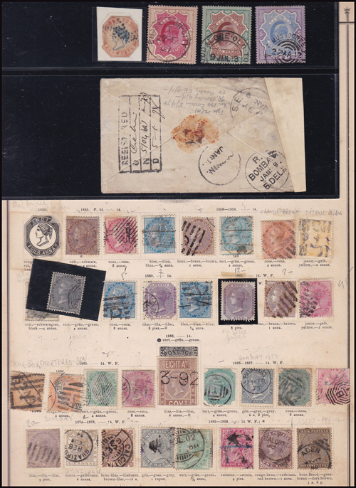 Lot 409 - world wide philately British Empire Commonwealth, India -  Romano House of Stamp sales ltd Auction #41